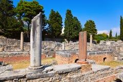 Oude ruïnes in Salona, Kroatië Stock Foto's