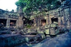 Oude ruïnes van Angkor Wat in Kambodja Royalty-vrije Stock Fotografie
