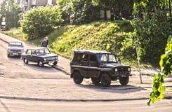 Oude Russische auto's Stock Fotografie