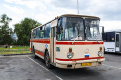 Oude Russische bus Stock Foto's