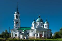 Oude Russische kerk in Nadkopanya Stock Fotografie