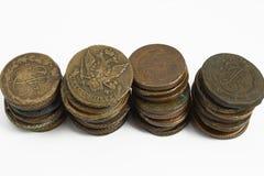 Oude Russische muntstukken Royalty-vrije Stock Afbeeldingen