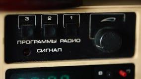 Oude Russische radio stock video
