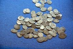 Oude Russische roebels Stock Foto's