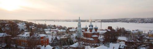 Oude Russische stad van Kostroma. Stock Foto's