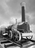 Oude Russische stoomlocomotief Royalty-vrije Stock Foto