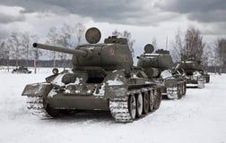 Oude Russische Tanks royalty-vrije stock afbeelding