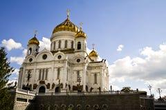 Oude Russische tempel in de stad van Moskou. Stock Fotografie