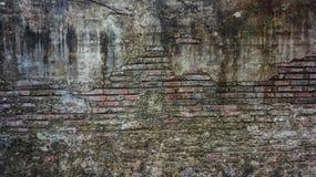 Oude rustieke baksteen en de gebarsten achtergrond van de pleistertextuur stock afbeeldingen