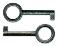 Oude Rustieke Sleutels stock foto