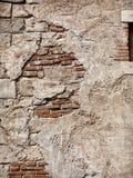 Oude rustieke steen en bakstenen muurtextuur royalty-vrije stock afbeeldingen