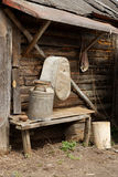 Oude rustieke werktuigen Stock Afbeelding