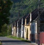 Oude Saksische huizen in Laslau mic/sachsisch-Lasseln Transsylvanië Royalty-vrije Stock Foto's
