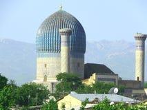 Oude Samarkand en de jongelui Stock Foto
