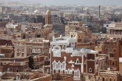 Oude Sanaa-gebouwen stock afbeelding