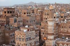 Oude Sanaa-gebouwen royalty-vrije stock foto's