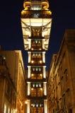 "Oude Santa Justa Lift †""Lissabon, Portugal royalty-vrije stock afbeeldingen"