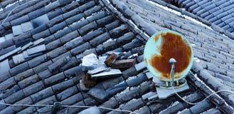 Oude SatellietSchotel Stock Foto