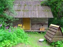 Oude sauna Royalty-vrije Stock Afbeelding