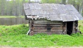Oude sauna Royalty-vrije Stock Afbeeldingen