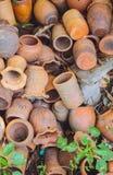 Oude schade unglazed earthware royalty-vrije stock afbeelding