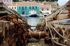 Oude scheepswerf Royalty-vrije Stock Foto's