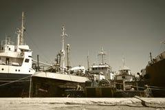 Oude schepen Stock Afbeelding