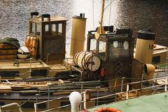 Oude schepen in dok Stock Fotografie