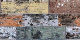 Oude schil grunge vuile multi houten textuur royalty-vrije stock foto