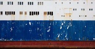 Oude schip zijtextuur - achtergrond stock foto's