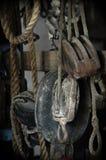 Oude schipkabels en krukken Royalty-vrije Stock Afbeelding