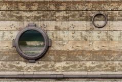 Oude schipmuur Stock Afbeeldingen