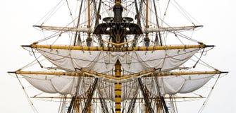 Oude schipzeilen & masten Royalty-vrije Stock Afbeelding