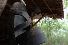 Oude schoen in de Oorlog van Vietnam Royalty-vrije Stock Foto's