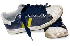 Oude schoenen. Stock Afbeeldingen