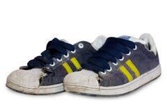 Oude schoenen. Stock Afbeelding
