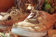 Oude Schoenen stock fotografie