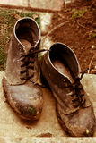 Oude schoenen. Stock Fotografie