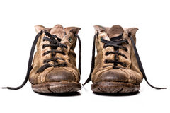 Oude schoenen stock foto's