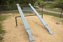 Oude school overzeese zaag in een park Royalty-vrije Stock Foto