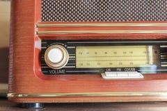 Oude schoolradio Stock Foto's