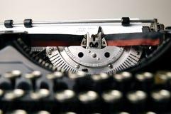 Oude schrijfmachine Stock Afbeelding