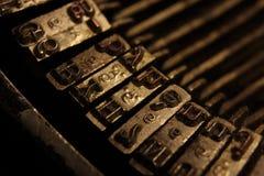 Oude schrijfmachine Royalty-vrije Stock Foto's