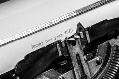 Oude schrijfmachine - Gelukkig nieuw jaar 2015 Stock Foto's