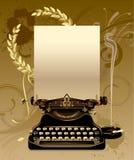 Oude schrijfmachine met laurels vector illustratie