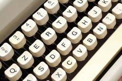 Oude schrijfmachinesleutels Royalty-vrije Stock Foto's