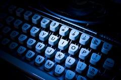 Oude schrijfmachinesleutels Royalty-vrije Stock Fotografie