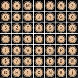 Oude schrijfmachinesymbolen (alfabet) Royalty-vrije Stock Foto