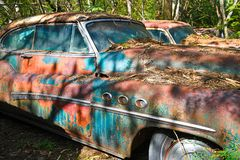 Oude Schrootauto royalty-vrije stock foto