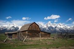 Oude schuur bij het Nationale Park van Grand Teton Royalty-vrije Stock Fotografie